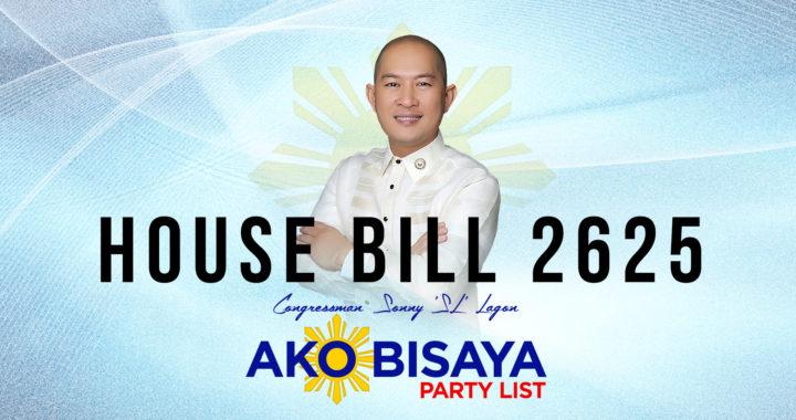 House Bill 2625 – Congressman Sonny Lagon