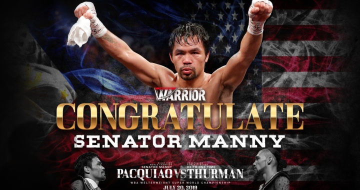 Manny Pacquiao won by split decision against Thurman